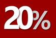 20 % Rabatt Aktion Angebot Sonderangebot Weiss ROT