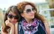 Two happy young beautiful women