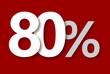 80 % Rabatt Aktion Angebot Sonderangebot Weiss ROT