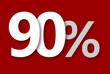 90 % Rabatt Aktion Angebot Sonderangebot Weiss ROT