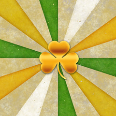 Background for St patrick day. Clover with 3 leaves.