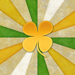 Background for St patrick day. (Clover with 4 leaves)