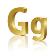 Vector letter G of golden design alphabet