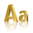 Vector letter A of golden design alphabet