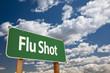 Flu Shot Green Road Sign