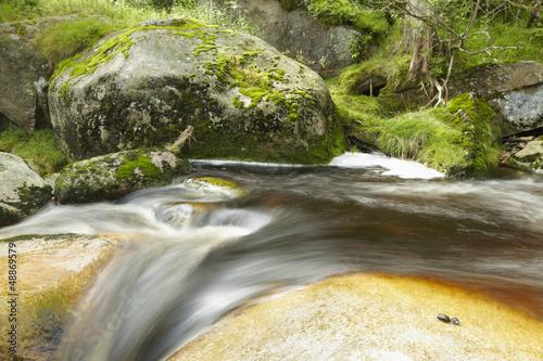Fototapeten,idyllisch,fluß,wasserfall,flowing water