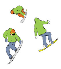 extreme snowboarders