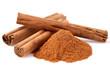 canvas print picture - Cinnamon in closeup
