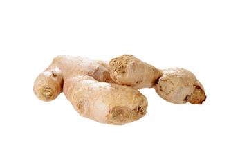 Isolated raw ginger