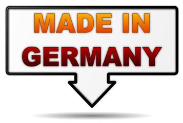 Hinweis made in Germany
