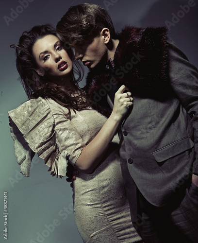 Portrait of a young attractive couple
