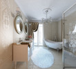 Luxury bathroom with shower and bath. Classic style