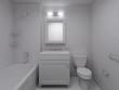 Modern bathroom design at white