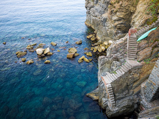 Steps on the sea