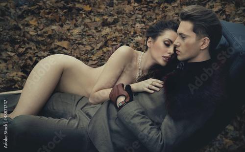 Fototapeta background - blue - Couples