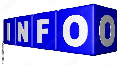 Info blue cubes