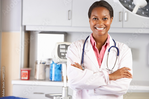 Portrait Of Female Doctor In Doctor's Office