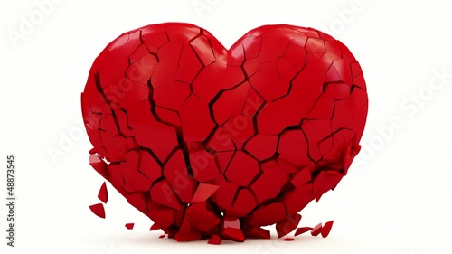 Animation of Red Heart Made From Many Small Pieces