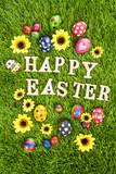 Happy easter eggs vertical