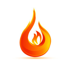 Fire flames logo vector eps10