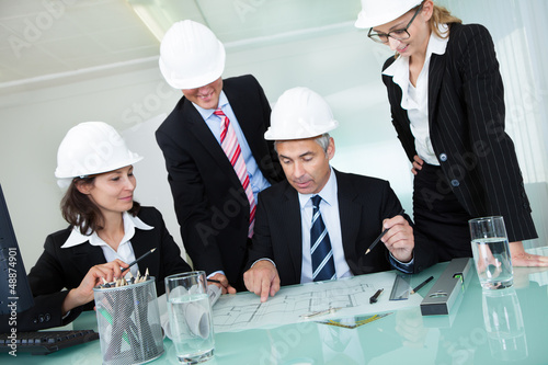 Meeting of architects or structural engineers