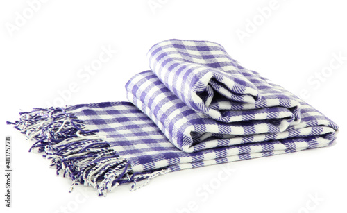 Warm plaid isolated on white