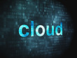 Cloud computing technology, networking concept: Cloud on digital