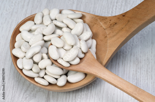 raw haricot beans