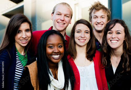 Group of Diverse Students Outside