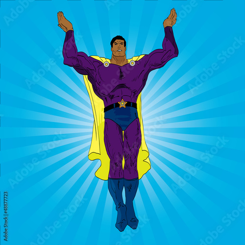 Spoed canvasdoek 2cm dik Superheroes Hand drawn vector superhero