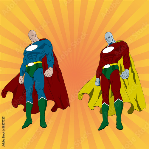 Tuinposter Superheroes Hand drawn vector superhero