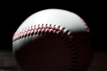 Baseball, black background, studio shot