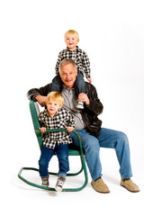 Grandpa with Grandsons