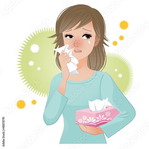 花粉症  涙目 かゆみ