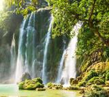 Fototapete Attraktion - Schön - Wasserfall / Schnellen / Geysir