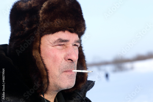 Man smoking outdoor