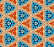 Seamlessly tiled kaleidoscopic mosaic pattern