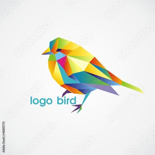 Deurstickers Geometrische dieren logo bird
