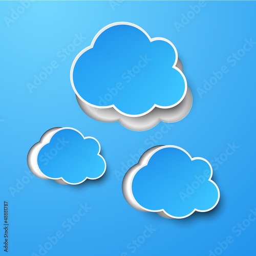 Paper blue clouds.