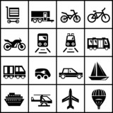 Fototapety Vector transportation icons isolated on white