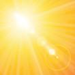Hintergrund Gelb Sonnenstrahlen mit Blend-Effekt