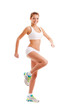 sporty woman over white