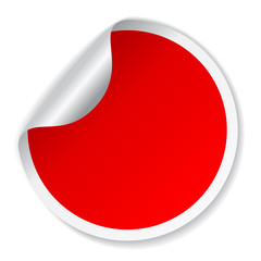 Red vector blank sticker