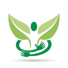 Logo embrace a green man