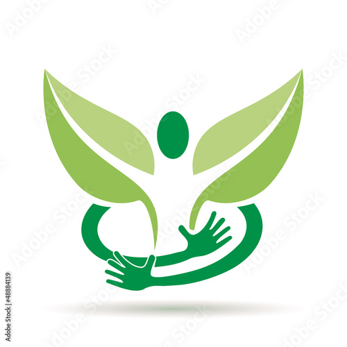 Logo embrace a green man