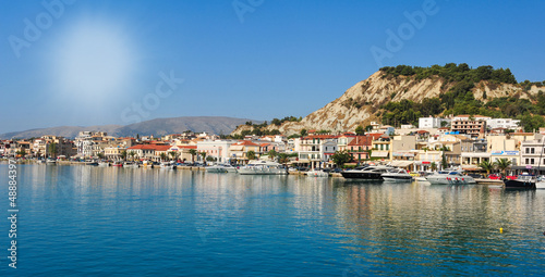 Aluminium Panoramic view of the town and port of Zakynthos, Greece. Zante