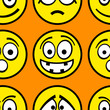 Funny emotions seamless pattern.