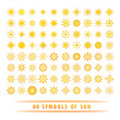 Huge set of sun symbols.