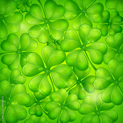 Clover leaf background