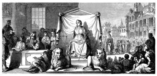 Allegory : The Law - La Loi - Das Gesetz - 18th century